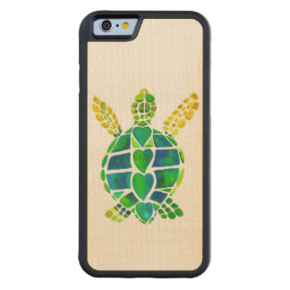 Sea Turtle Love on Maple Carved® Maple iPhone 6 Bumper