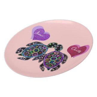 Sea Turtle Love Song Dinner Plate