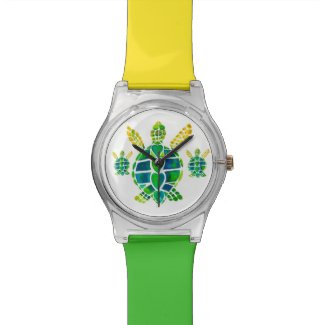 Sea Turtle Love Wristwatch