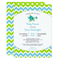Sea Turtle Mama   Baby |  baby shower invite