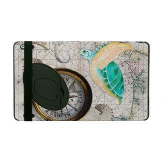 Sea turtle Map Beige iPad Folio Case