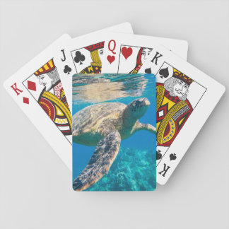 Sea Turtle, Marine Turtle, Chelonioidea, reptile Playing Cards