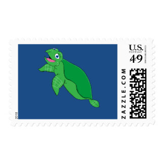 Sea turtle matching stationery postage stamps
