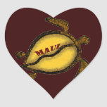 Sea Turtle Maui Hawaii Heart Sticker