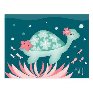 """""""Sea Turtle Maui"""" Postcard"""