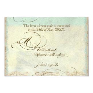 Sea Turtle Modern Coastal Ocean Beach Swirls Style 3.5x5 Paper Invitation Card