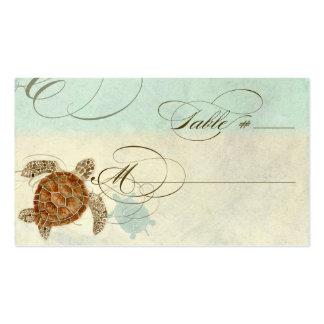 Sea Turtle Modern Coastal Ocean Beach Swirls Style Business Cards