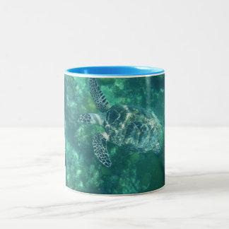 Sea turtle Two-Tone coffee mug