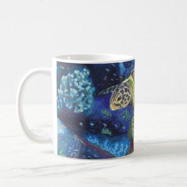 Ocean Themed Sea Turtle Mug