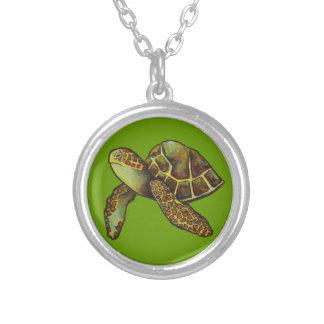 Sea Turtle Necklace Pendant, Choose your own Color