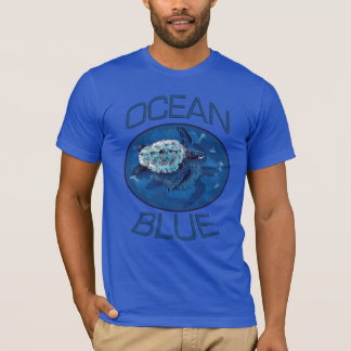 Sea Turtle Ocean Blue American Apparel T-shirt