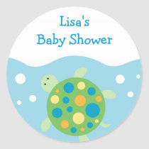 Sea Turtle Ocean Bubbles Envelope Seals Stickers
