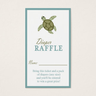 Sea Turtle Ocean Theme Diaper Raffle Ticket