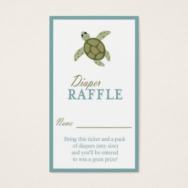 Beach Themed Sea Turtle Ocean Theme Diaper Raffle Ticket