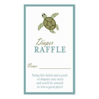 Sea Turtle Ocean Theme Diaper Raffle Ticket Business Card