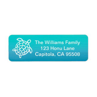 Sea Turtle Ocean Watercolor Address Labels