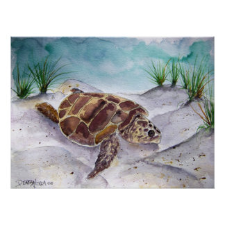 sea_turtle_painting_2 poster