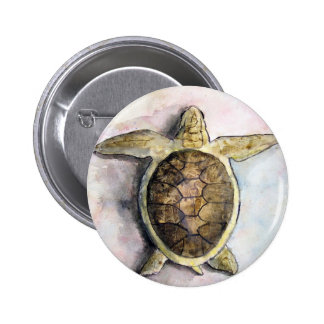 sea turtle painting art wild animal gifts buttons