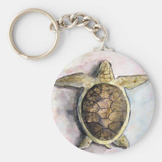 sea turtle painting art wild animal gifts keychain