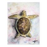 sea turtle painting art wild animal gifts postcards