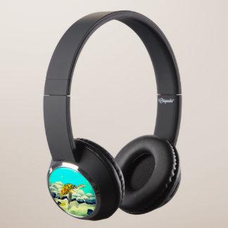 Sea Turtle Painting Beautiful Blue Sea Headphones