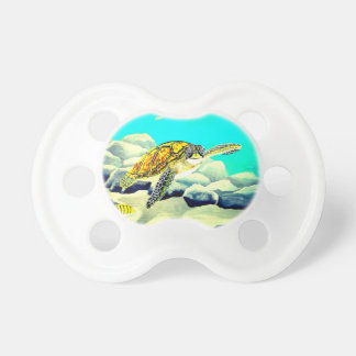 Sea Turtle Painting Beautiful Blue Sea Pacifier