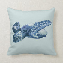 Sea Turtle Painting Pillow