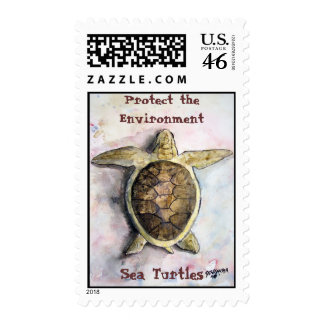 sea_turtle_painting Protect the Environment S Postage Stamps