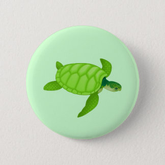 Sea Turtle Pinback Button