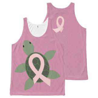 Sea Turtle Pink Ribbon Awareness Tank