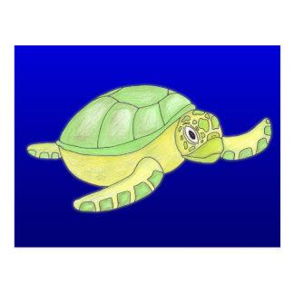 Sea Turtle post card