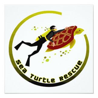Sea Turtle Rescue Card