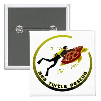 Sea Turtle Rescue Pinback Button
