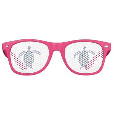 Beach Themed Sea Turtle Retro Sunglasses