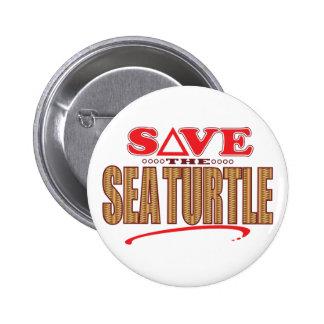 Sea Turtle Save Pinback Button
