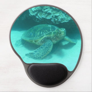 Sea Turtle Scuba Diving Gel Mouse Pad