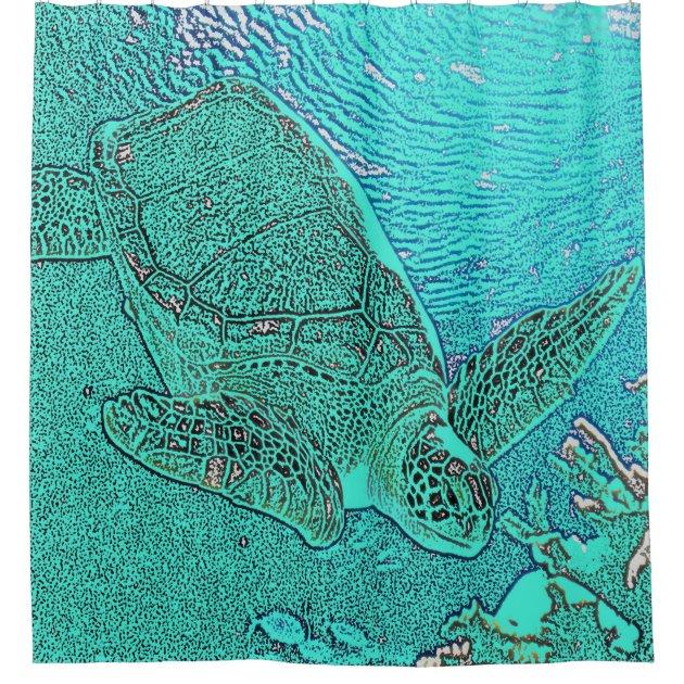 Sea Turtle Shower Curtain   Zazzle