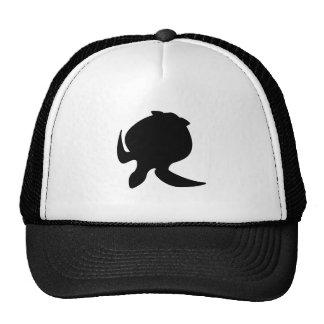 Sea Turtle Silhouette Trucker Hats
