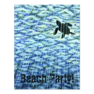 Sea Turtle Silhouette 4.25x5.5 Paper Invitation Card