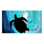 Sea Turtle Silhouette (K.Turnbull Art) Double-Sided Standard Business Cards (Pack Of 100)