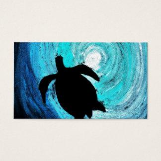 Sea Turtle Silhouette (K.Turnbull Art) Business Card