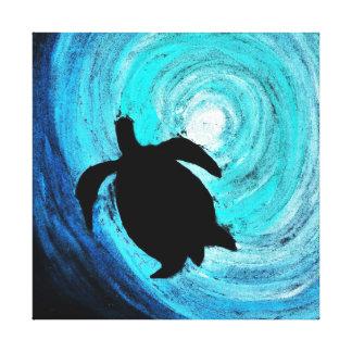 Sea Turtle Silhouette (K.Turnbull Art) Canvas Print