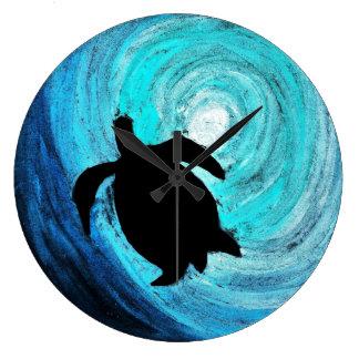 Sea Turtle Silhouette (K.Turnbull Art) Clock