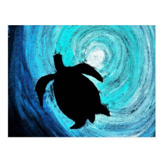 Sea Turtle Silhouette (K.Turnbull Art) Postcard
