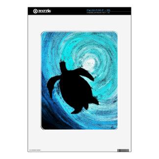 Sea Turtle Silhouette (K.Turnbull Art) Skin For iPad