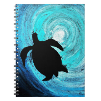 Sea Turtle Silhouette (K.Turnbull Art) Spiral Notebook