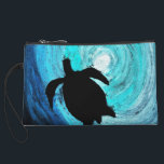 "Sea Turtle Silhouette (K.Turnbull Art) Wristlet Wallet<br><div class=""desc"">Sea Turtle Silhouette (K.Turnbull Art) - From my original art work</div>"