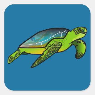 Sea Turtle Square Sticker