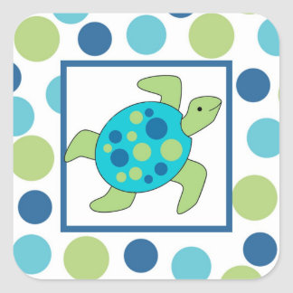 Sea Turtle Square Sticker