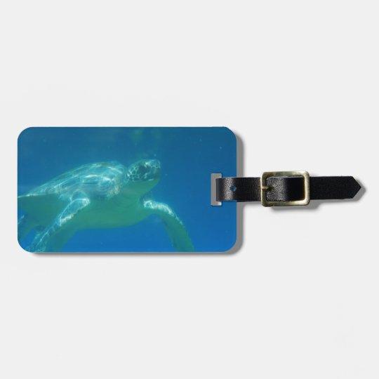Sea Turtle Swim Luggage Tag